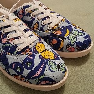 Cushion Walk Avon Butterfly Canvas Sneakers Size10
